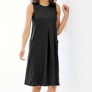 J Jill Sleeveless Shift Dress Pockets 1X